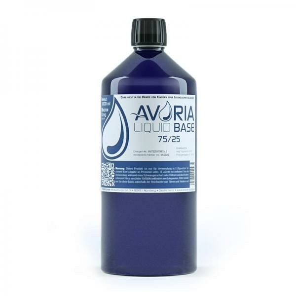 Avoria - 75/25 Liquid Base - 1 Liter