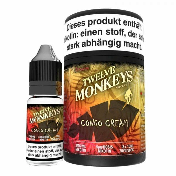 Liquid Twelve Monkeys - Congo Cream 3 x 10 ml