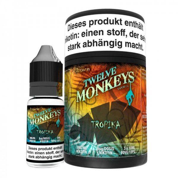 Liquid Twelve Monkeys - Tropika 3 x 10 ml