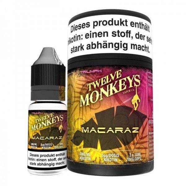 Liquid Twelve Monkeys - MacaRaz 3 x 10 ml