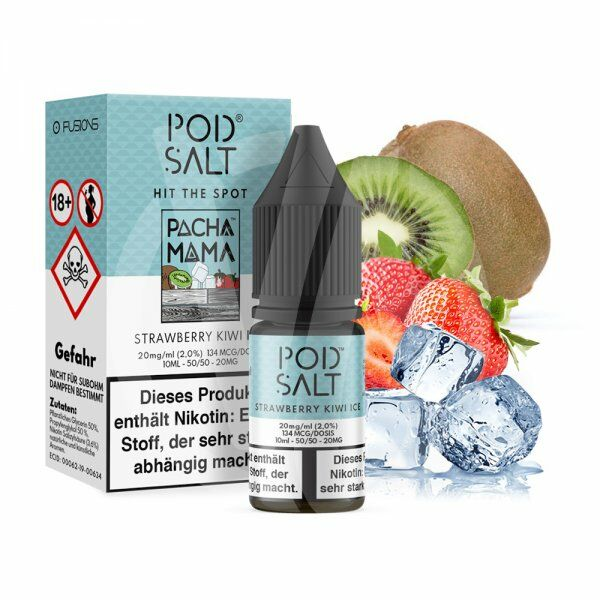 Pod Salt Fusion - Strawberry Kiwi Ice Nikotinsalz 10ml